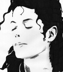 You are not alone.. (Sere C. Photography) Tags: portrait white black sketch blackwhite alone you drawing song rip michaeljackson ritratto disegno solitudine schizzo youarenotalone canzone kinfofpop