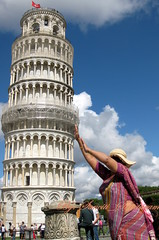 STRAIGHTENING  THE PISA BELL TOWER, ALMOST MADE IT (Sunciti _ Sundaram's Images + Messages) Tags: italy pisa soe leaningtower sow bestshot brightspark fieldofmiracles blueribbonwinner tuscona beautifulexpression distellery enstantane anawesomeshot colorphotoaward impressedbeauty aplusphoto agradephoto flickraward flickerdiamond diamondclassphotgrapher eperke brillianteyejewel concordians brilliantphotography anobellife fabulousflicks overtheshot abovealltherest mallimixstaraward elitephotgraphy artofimages flickrmasterpieces capturethefinest winklerians