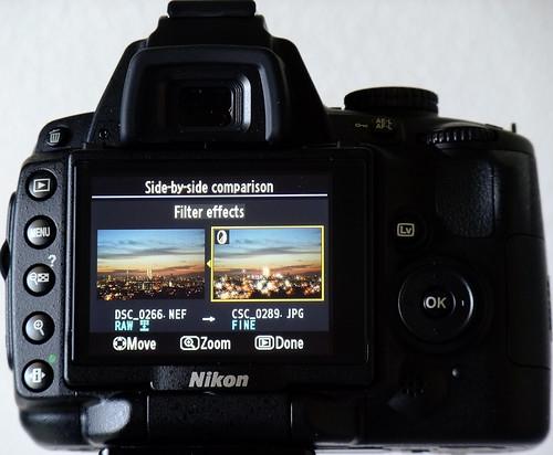 The rear LCD on my Nikon D90 -- DSCF4055