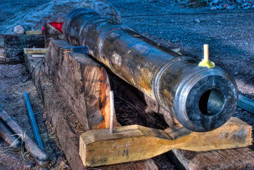 Replica Elizabethan cannon