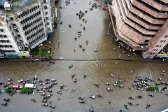 A city under water [..Dhaka, Bangladesh..] (Catch the dream) Tags: city bus water car rain buildings shower underwater traffic top capital bongo under problem vehicles dhaka rickshaw passage bengal bangladesh rainfall birdseyeview bangladeshi clogged multistoried waterclogged gettyimagesbangladeshq2