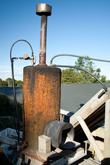 Le système d'eau chaude, avec le poêle à bois