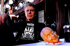 Sneed: Bizzare Bourdain (IWH844) Tags: streetart art stickers peel merch lowbrow anthonybourdain sneed bomit stickertraders andrewzimmern iwh844