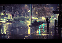 Rainy Bellevue (sparth) Tags: road seattle rain night washington dof nightshot bokeh rainy roads cinematic bellevue 5dmarkii