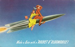 Johnny & Lucille for Oldsmobile (aldenjewell) Tags: postcard 1950 oldsmobile johnnylucille