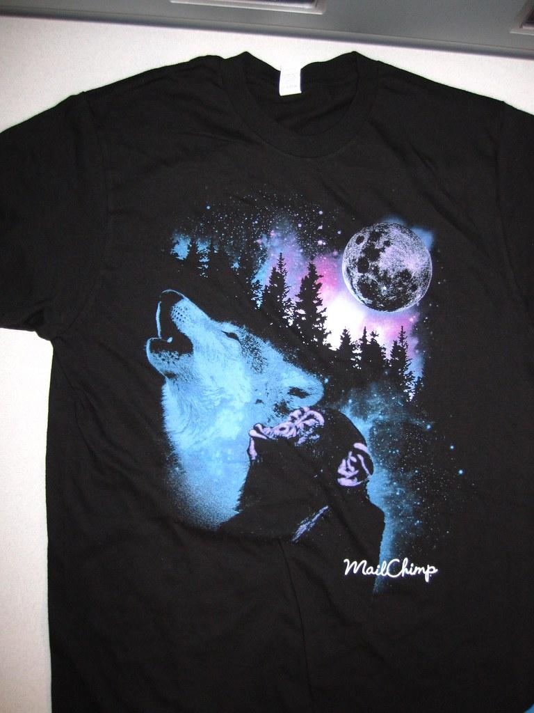 "MailChimp ""3 Wolf Moon"" Parody Shirt"