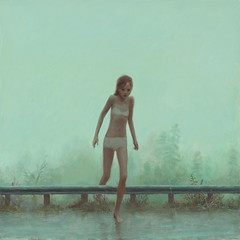 "Flood by Aron Wiesenfeld - Aron Wiesenfeld ©2009, oil on canvas, 24""x24""   www.aronwiesenfeld.com"