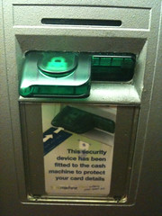 Is this a card skimming device to steal your bank details? Or the security device it claims to be?