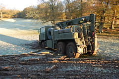 FODEN bogged in (matt bibbey) Tags: camp mountains cold 6x6 night truck army gun shoot exercise accident military hill machine down rover trench cumbria guns shooting bullet bog range a2 machinegun recovery sa80 reme foden bogged warcop gpmg l85 l85a2 manouvre mattbibbey fodenrecovery