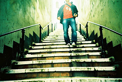 Steps (AndyWilson) Tags: film 35mm lomo lca xpro steps down course zenit hastings claremont agfa hotshots lomokev precisa thechilliking notdevelopedbyme