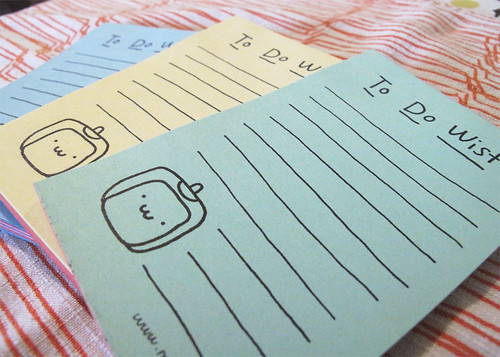 Tofu Baby To Do Wist Mini Notepad