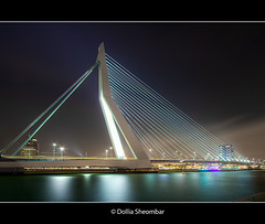 Erasmusbrug - View From Noordereiland (DolliaSH) Tags: city longexposure bridge light people urban haven streets holland color water colors architecture night canon reflections river puente photography lights noche photo swan rotterdam bravo europe foto nightshot photos nacht harbour nederland thenetherlands ponte most le pont brug maas brücke nuit kopvanzuid notte hdr stad erasmusbrug noordereiland noch zuidholland brucke zwaan erasmusbridge efs1022mm rijnmond southholland photomatix tonemapping nachtopname flickrsbest mywinners canoneos50d detailsenhancer flickrdiamond theunforgettablepictures dollia dollias sheombar dolliash