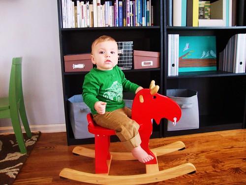 Liam rides the Moose.