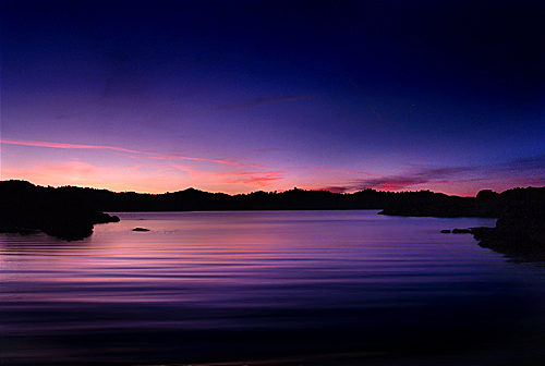 Millerton lake sunrise color