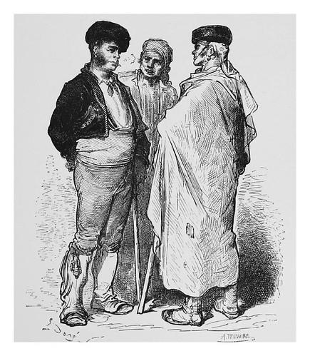 040-Majo y campesinos en los alrededores de Jerez-Spain (1881)- Doré Gustave