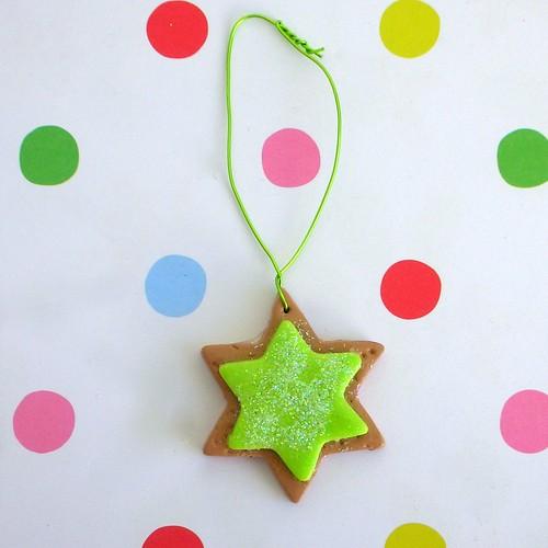 Fimo cookie stars
