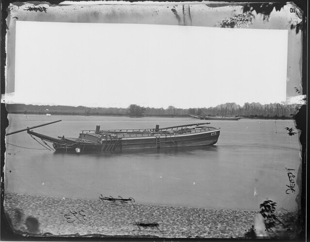 Original Caption: Obstruction in front of Fort Darling, James River, Va.,