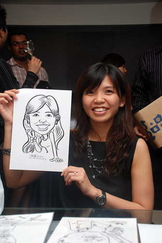 Caricature live sketching for Johnson & Johnson - 4