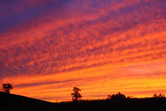 West Virginia sunset, October 2009