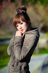 (Funstyle) Tags: portrait woman cute girl beauty model nikon asia taiwan 85mm sigma babe  taipei   fx 2009 peopel     2470 mikako   d700
