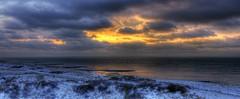 Den Helder, Sunset over a snowy beach (klaash63) Tags: winter sunset sky snow holland water netherlands twilight zonsondergang photographer dunes sony sneeuw nederland alfa alpha lucht duinen hdr hdri denhelder fotograaf schemer heiligenberg photomatix a700 tonemapping tonemap grafelijkheidsduinen klaasheiligenberg klaash63 klaash