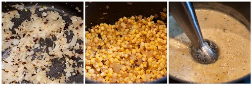 Making the Chipotle Corn Soup