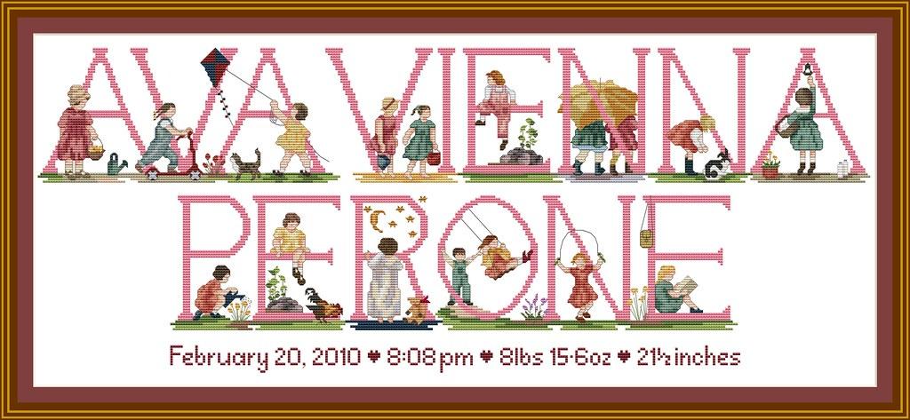 Baby Girls Cross Stitch Patterns & Kits