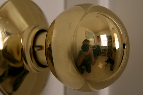 Day 148 - Door Knob Self-Portrait