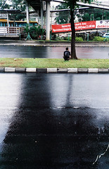 . (Rendy Nur Rizal) Tags: reflection film jakarta rainy olympusmjuii sudirman