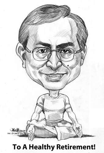 Yoga caricature for APL