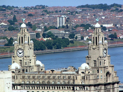 LIVER BUILDINGS~FROM THE CATHEDRAL TOWER.