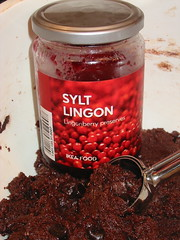 Lingonberry in Chocolate Lingonberry Jam Cookies