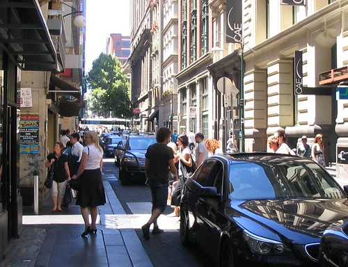 Flinders Lane pedestrian crossing
