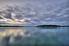 (ryan jay?) Tags: sunset lake motion blur water clouds sunrise wow fishing jay ryan michigan horizon peaceful diamondlake ndfilter cassopolis casscounty