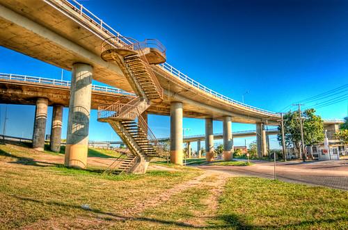 Início da Ponte do Guaíba   HDR