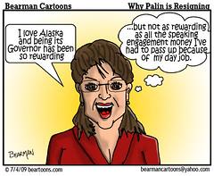 7 4 09 Bearman Cartoon Palin Resigns copy (Bearman2007) Tags: alaska humor cartoon governor bearman politicalcartoon editorialcartoon sarahpalin bearmancartoons