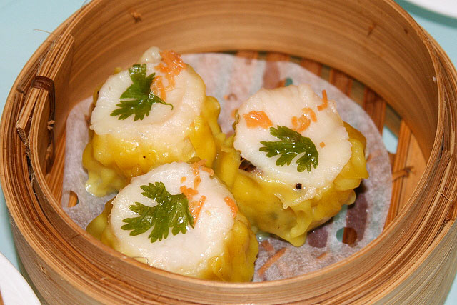 Minced pork dumpling with scallop, aka Siew Mai