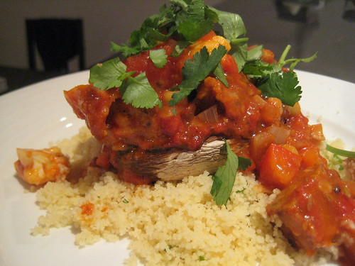 Moroccan Stew with Green Onion Couscous