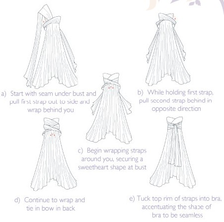 Twobirds Bridesmaids - how to tie