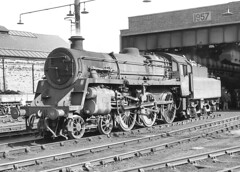 BR class 4 4-6-0 no. 75052. Llandudno Junction Shed. 27 March 1966 (ricsrailpics) Tags: uk bw 1966 steam 460 standardclass4 exbr llandudnojunctionshed