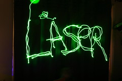 Laser pointer art