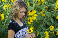 Life's Little Beauties: Senior Pictures (jimharmer) Tags: girl female highschool sunflowers sunflower junior teenager 17 seniorpictures teenage seniorportraits blackfootidaho