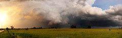 Sunset Storm Panorama (ryanmcginnisphoto) Tags: sunset 2 panorama vortex storm weather project skyscape landscape wheels wide science research missouri scientists doppler meteorology webres amazonia dow mcginnis researchers vortex2