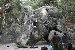 The classic Elephant problem ,6a (Ian_Thomas) Tags: elephant climbing bouldering fontainebleau