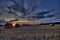 Bales (Digit@l Exposure) Tags: sunset long exposure harvest straw lincolnshire hay bales hdr davidurquhart wwwdigitalexposurephotographycom