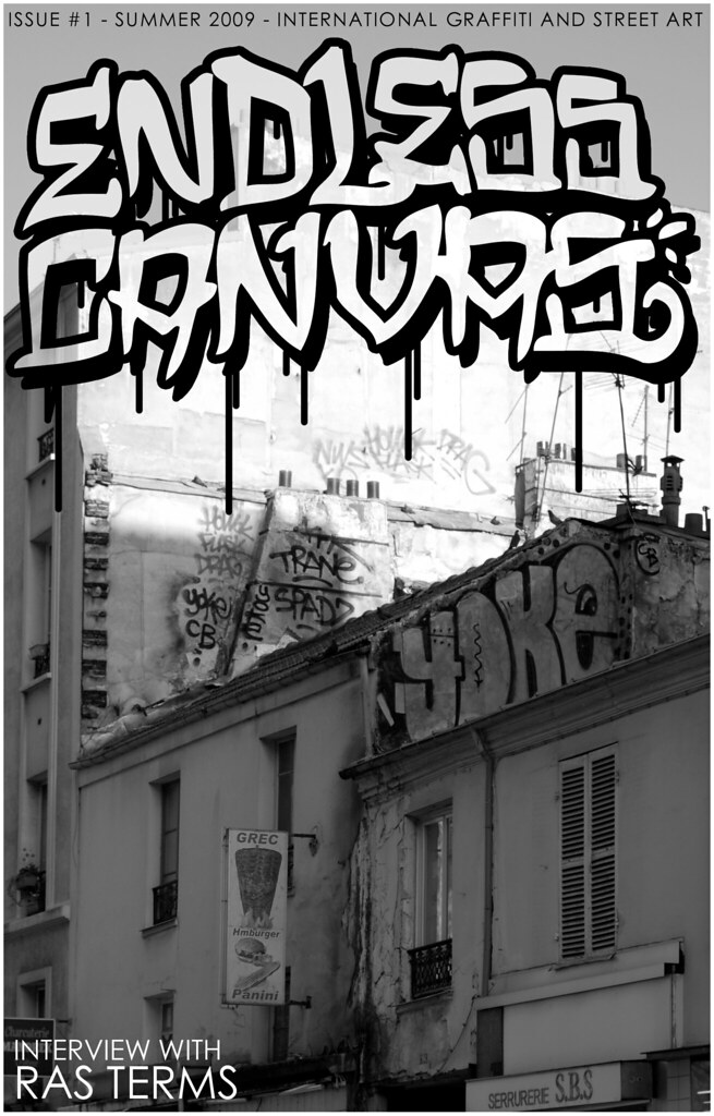Endless Canvas Zine issue number one ras terms graffiti.