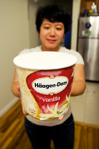 Giant tub of ice cream