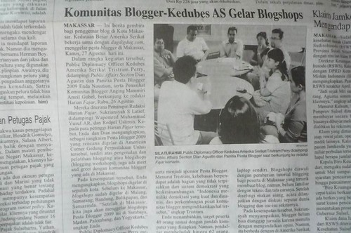 [pb2009] Blogshop Makassar - Harian Fajar