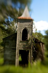 Abandoned Church, Chackbay, Louisiana (frank3.0) Tags: abandoned church vines louisiana country rusty steeple southern collapse canon5d tinroof reclaimed ruralchurch leaningchurch chackbay lensbabycomposer