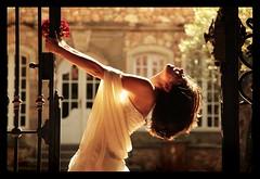 MARIAGE / WEDDING : Virginie, Having fun! :o) (Sebastien LABAN) Tags: wedding portrait white love face composition hair eyes cotedazur dress ceremony mariage shoulder glance 83 var sud virginie straphael blueribbonwinner saintraphael haircutlook freijus